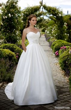 Eve Allure Ball Gown Sweetheart Floor-length Taffeta Wedding Dress with Beading Only $186
