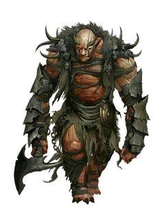 Ogre Half-Fiend Chieftan - Pathfinder PFRPG DND D&D d20 fantasy
