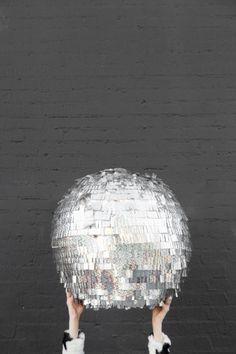 createforless:  Disco Ball Pinata via Studio DIY