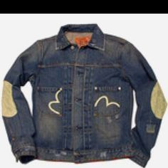 Evisu denim bomber