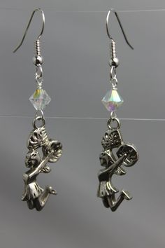 Cheerleader Earrings by CraftySquirrelDesign on Etsy