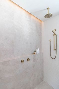 hamptons bathroom Hamptons luxe bathroom reno thats loaded with Beautiful Bathrooms, Modern Bathroom, Small Bathroom, Bathroom Niche, Minimalist Bathroom, Bathroom Shelves, Textured Tiles Bathroom, Bathroom Feature Wall Tile, Light Grey Bathrooms