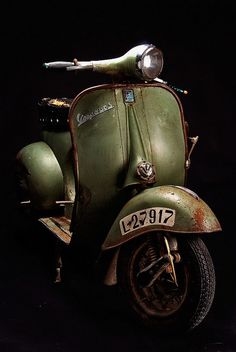 Vespa - Tag your and with these hashtags for a… Piaggio Vespa, Scooters Vespa, Motos Vespa, Lambretta Scooter, Motor Scooters, Vintage Vespa, Vintage Cars, Triumph Motorcycles, Vintage Motorcycles