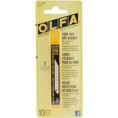 OLFA 5007 A1160B 9mm Snap-Off Art Blade, 10-Pack OLFA