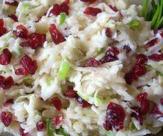 Surówka z selera z żurawiną Pyza Raw Food Recipes, Salad Recipes, Cooking Recipes, Healthy Recipes, Salate Warm, Good Food, Yummy Food, Appetizer Salads, Breakfast Lunch Dinner