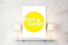 """Poster """"SUNSHINE"""" 20 x 30 cm von IDEENBAUM - der SHOP auf DaWanda.com"""
