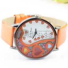 The orange fashion female watch