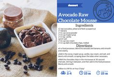 Avocado Raw Cream Chocolate Mousse — Organic Pastures