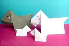 Scottie Dog Origami