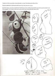 moldes y patrones de loritos en fieltro (8)