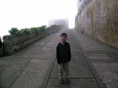 My grandson on the hills of Alcatraz....no tourists!