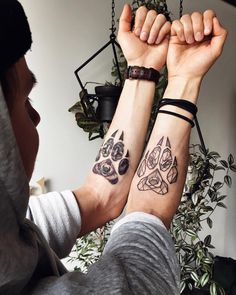 Nice couple tattoo design by Sasha Kiseleva