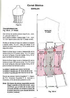 Risultati immagini per tutoriales flores de alta costura Corset Sewing Pattern, Pattern Drafting, Sewing Patterns, Techniques Couture, Sewing Techniques, Sewing Clothes, Diy Clothes, Corset Tutorial, Corset Costumes