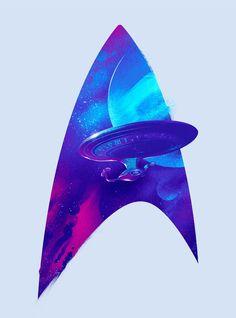 Star Trek Art Print Next Generation Enterprise Stat Fleet Silhouette Design Poster