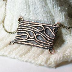 Unique pendant with copper wire. Copper jewelry, copper pendant, gift for women, boho style, The hippie movement, Hippie