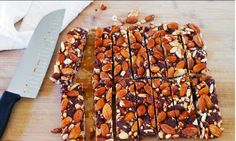 DIY: KIND Bars recipe - how to make homemade KIND bars - granola bars at home recipes - kids cooking ideas for snacks - boy scouts or girl scouts backpacking hiking recipes on the go - easy camping food Low Carb Chocolate, Chocolate Cherry, Chocolate Bars, Snack Recipes, Dessert Recipes, Cooking Recipes, Desserts, Bar Recipes, Cooking Ideas