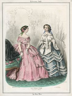 Casey Fashion Plates Detail   Los Angeles Public Library February 1, 1856