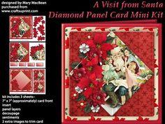 A Visit from Santa Diamond Panel Card Mini Kit on Craftsuprint - View Now!