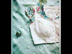 Designer blouses to match with plain sarees latest - YouTube