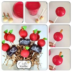 Apple cake pop tutorial from Cake Poppin