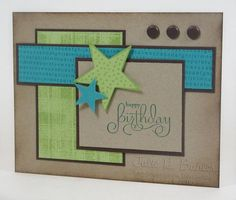 love the colour with the craft card