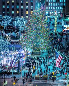 Rockefeller Center Christmas Tree by Noel YC by - The Best Photos and Videos of New York City including the Statue of Liberty Brooklyn Bridge Central Park Empire State Building Chrysler Building and other popular New York places and attractions. Christmas World, Christmas In The City, New York Christmas, Mary Christmas, Christmas Tree, Christmas Lights, New York Photography, Chicago City, Rockefeller Center