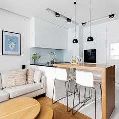 Small Living Dining Room Layout Ideas - Home Design Interiors Small Living Dining, Small Space Living, Kitchen Living, Kitchen Decor, Kitchen Design, Small Apartment Decorating, Apartment Design, Condo Interior, Apartment Furniture