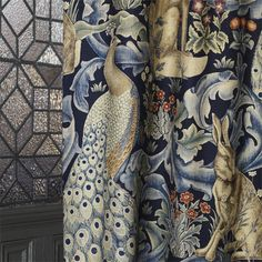 The Original Morris & Co - Arts and crafts, fabrics and wallpaper designs by William Morris & Company | Products | British/UK Fabrics and Wallpapers | Forest (Viscose/Linen) (DARP222533) | Archive II Prints