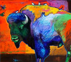 "Art by Jeff Ham. Oh, no, a ""buttafo""!  Wow...What a Gorgeous Buffalo!!"
