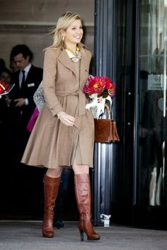 Queen Maxima visited the fourth Morningstar investment conference Europe at the Hilton Hotel in Amsterdam.