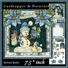 Cardtopper Cute Snowman 620 on Craftsuprint - View Now!