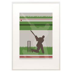 Cricketer print