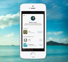 Free travel content in Media Lounge.  Get premium apps for free on iTunes by downloading them through the Expedia app.