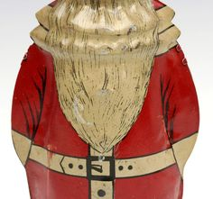 An alternate depiction of Santa Claus with conical hat and low hanging one-piece suit. on Sep 2019 Tin, Auction, Santa, One Piece, Pewter