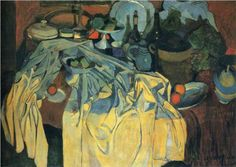 Still Life on the Table - Andre Derain -  1904 /  Style: Post-Impressionism