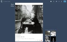 Tumblr – When you like a picture in your feed, a set of similar ones you might like appear on the side. /via Simon Souris