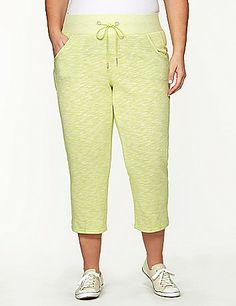 Keep it comfortable in our bold lime Drawstring Capri #LaneBryant