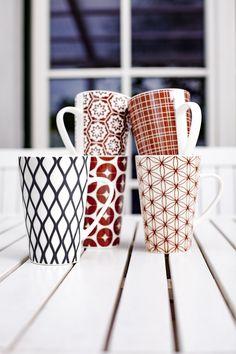 Kubki porcelanowe PATTERN, 400 ml Mugs, Tableware, Pattern, Dinnerware, Tumblers, Tablewares, Patterns, Mug, Dishes
