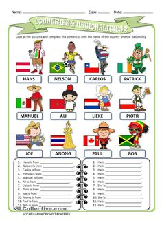 COUNTRIES AND NATIONALITIES 2 WS