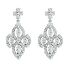 Diamond Shaped CZ Earrings