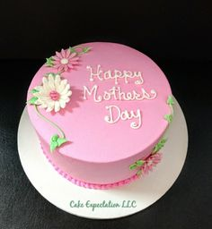 Happy Mothers Day cake Fondant Cake Designs, Fondant Cakes, Mother's Day Cookies, Cupcake Cookies, Birthday Event Ideas, Fancy Birthday Cakes, Mothers Day Cakes Designs, Raspberry Frosting, Mom Cake