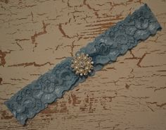 Something Blue Wedding Garter Bridal Garter by SpecialTouchBridal, $13.99