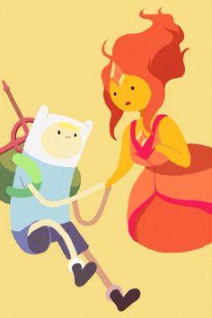 Finn and Flame Princess Adventure Time