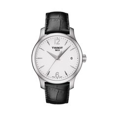 Tissot T Classic Tradition Lady Sport Watches, Cool Watches, Rolex Watches, Analog Watches, Black Watches, Skagen, Bracelet Cuir, Bracelet Watch, Daniel Wellington