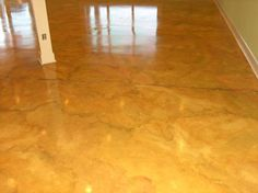 painted concrete floors | Here are two concrete floors that have been painted