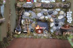 Fairy Furniture Fireplace Detail | Flickr - Photo Sharing!