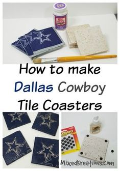 diy Dallas cowboys tile coasters & how to make tile coasters & how to decoupage a napkin on tile & make homemade tile coaster for gifts Source by mixedkreations The post Dallas Cowboy Coasters appeared first on Muir Designs. Dallas Cowboys Room, Dallas Cowboys Crafts, Cowboys Gifts, Dallas Cowboys Wreath, Football Crafts, Football Decor, Cowboy Centerpieces, Cowboy Crafts, Cowboy Christmas