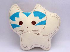 16x18 Lulu Cat kids cushion. Hand painted plush pillow toy Kids decorative pillow Kawaii plush pillow Cute decor cushion Kids gift toy