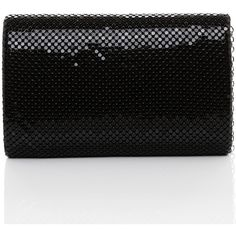 Jezzelle Black Metal Mesh & Rhinestones Clutch (€52) ❤ liked on Polyvore featuring bags, handbags, clutches, black, mesh purse, rhinestone clutches, metal purse, rhinestone studded purse and rhinestone handbags