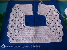 Baby Dress Amigurumi Crochet Stitches Farmhouse Rugs Tricot Outfit Toddler Girl Dresses Little Girl Clothing Suits IG ~ ~ crochet yoke for Irish lace, crochet, crochet p This post was discovered by Ел New model, new color, new fabric. Crochet Toddler Dress, Crochet Baby Dress Pattern, Crochet Yoke, Baby Dress Patterns, Crochet Girls, Crochet Baby Clothes, Crochet Blanket Patterns, Crochet For Kids, Free Crochet
